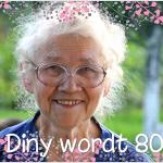 Verjaardagsuitnodiging 80 jaar
