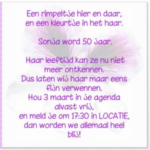 Ongekend Kaart feest 50 jaar - Uitnodigingen.nl CE-78