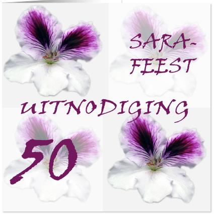 Sarah 50 Jaar Uitnodiging