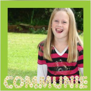 Foto uitnodiging voor communie van een meisje