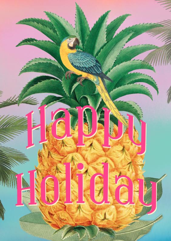 fijne vakantie ananas happy holiday