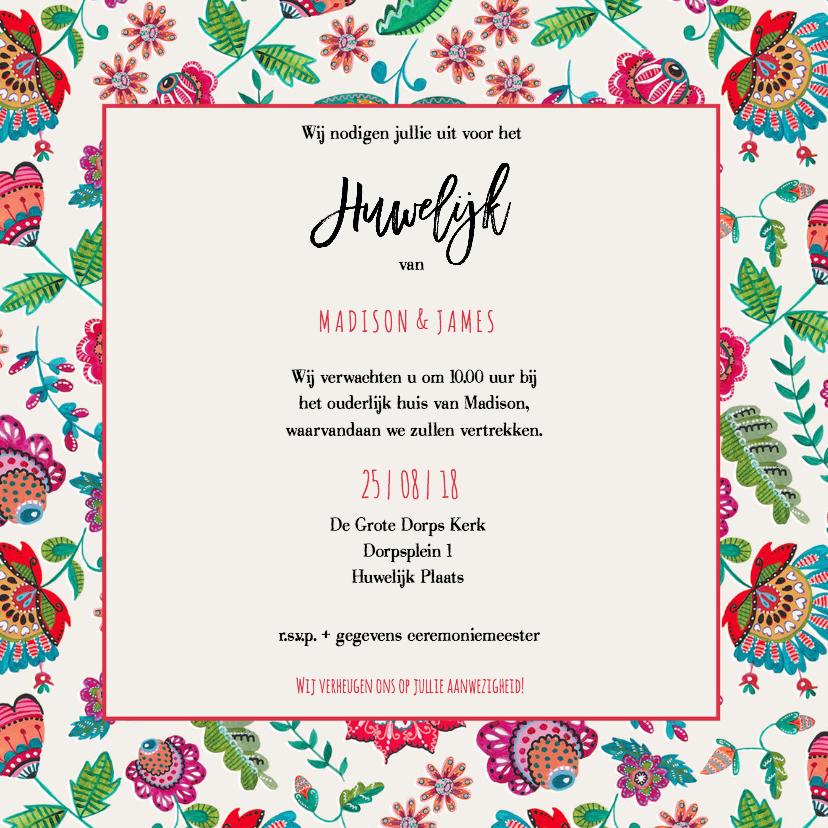 Een moderne en mooie trouwkaart vind je bij kaartje go