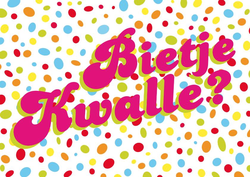 carnaval bietje kwalle carnavalskaart