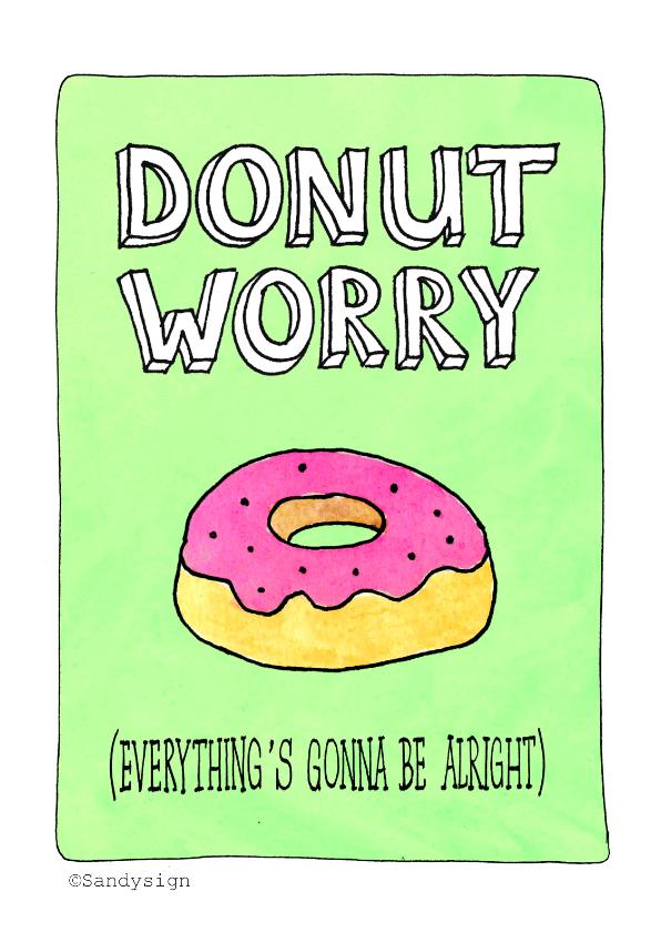niet geslaagd donut worry