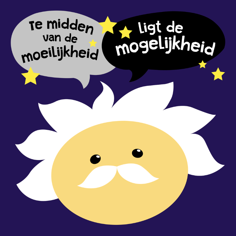 motivatie coachingkaart albert einstein smiley