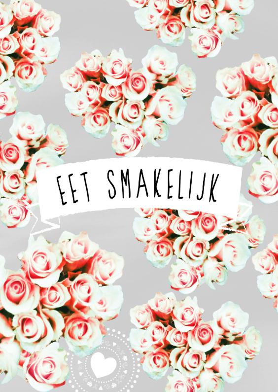 eet smakelijk rozen harten menukaart