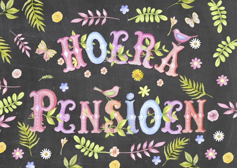felicitatie pensioen