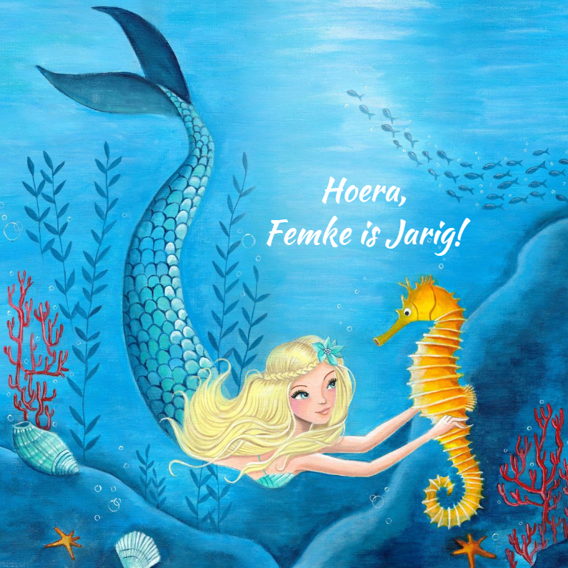 prinsessenkaart zeemeermin
