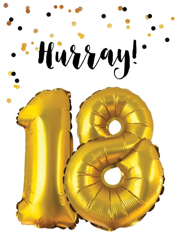 moderne verjaardagskaarten voor 18 jaar! - uitnodigingen.nl