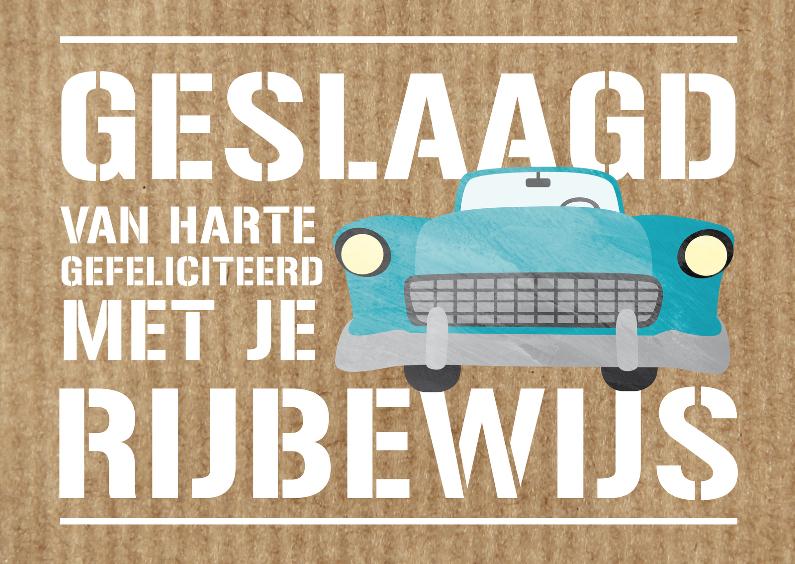 felicitatiekaartje rijbewijs