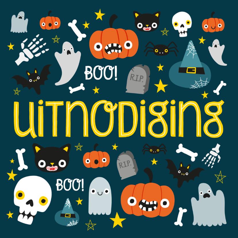 uitnodiging voor je halloweenfeestje