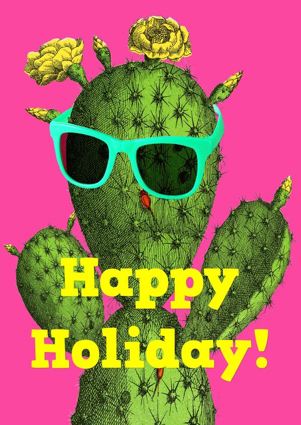vakantie kaart cactus happy holiday