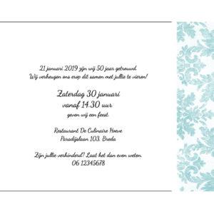 Jubileum 50 Jaar Huwelijk Met Retro Bloemenbehang 2