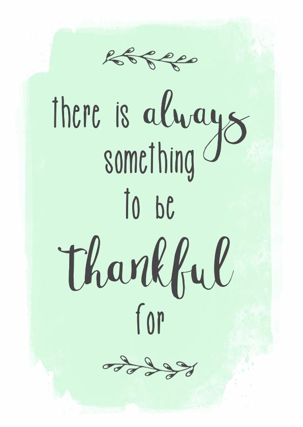 spreuken kaart thankful