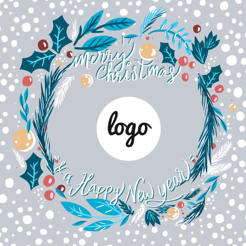 kerstkrans met logo