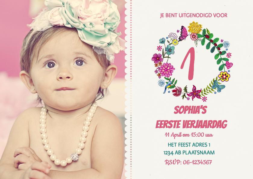 Een Baby 1 Jaar Oud Gefeliciteerd Uitnodigingen Nl