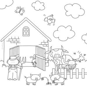 kleurplaat kaart boerderij uitnodigingen nl