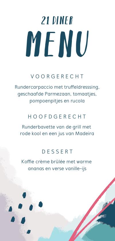 Beste De mooiste 21-diner menukaarten! - Uitnodigingen.nl XB-06