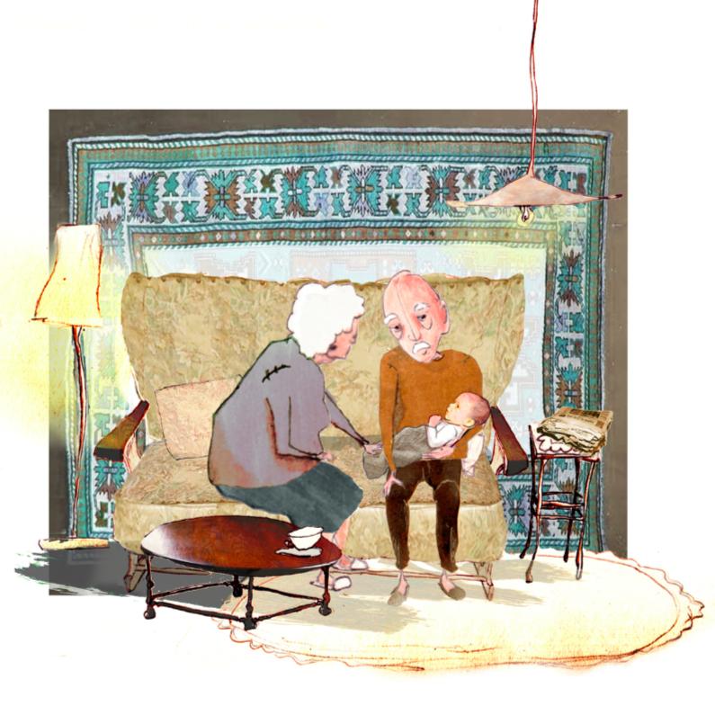 Voorkeur Een felicitatie voor een kersverse opa en oma - Uitnodigingen.nl @XP91