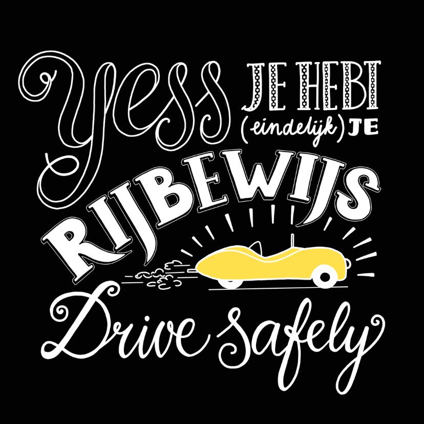 geslaagd voor je rijbewijs