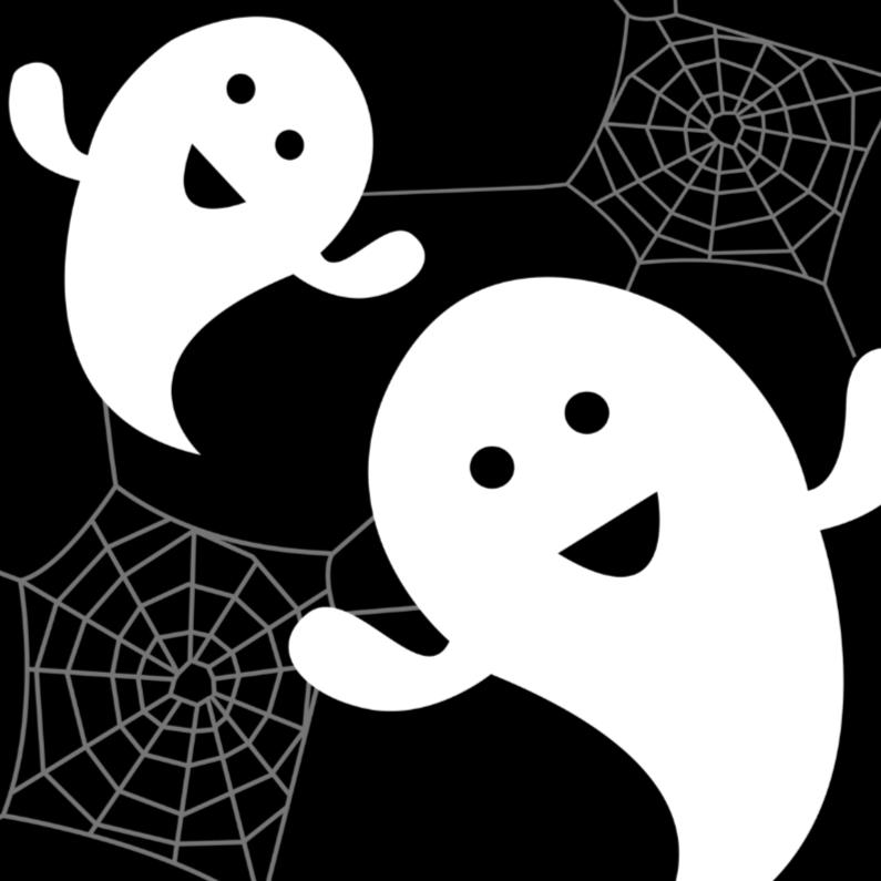 Halloween uitnodiging spookjes