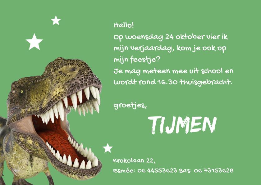 Uitnodigingen Voor Een Te Gek Dinosaurusfeestje Uitnodigingen Nl