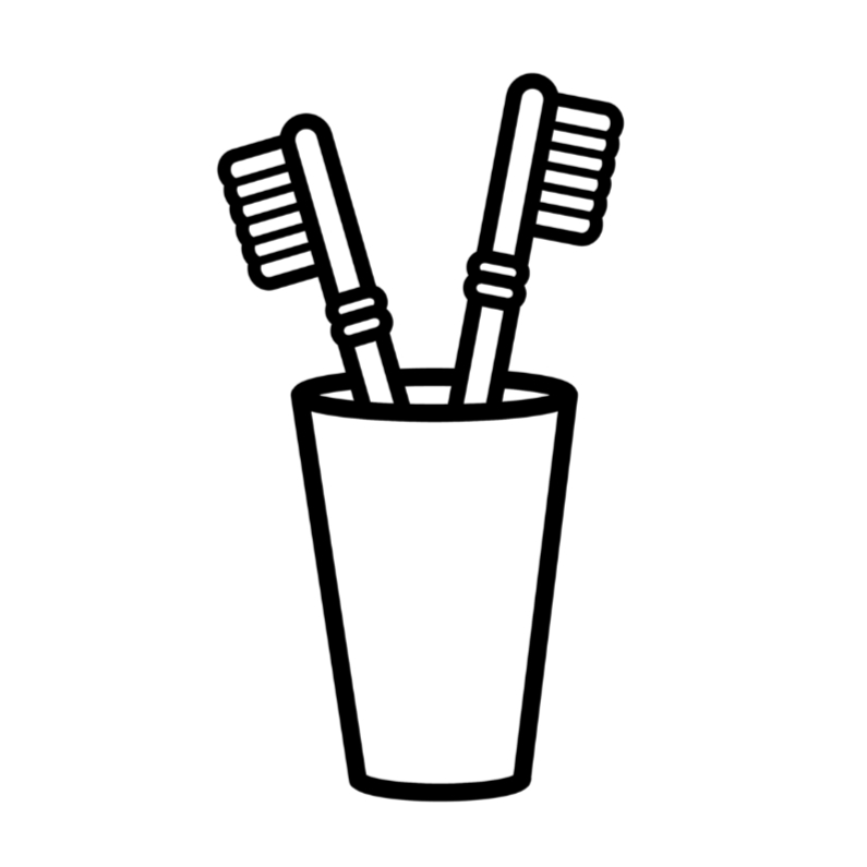 samenwonen tandenborstels