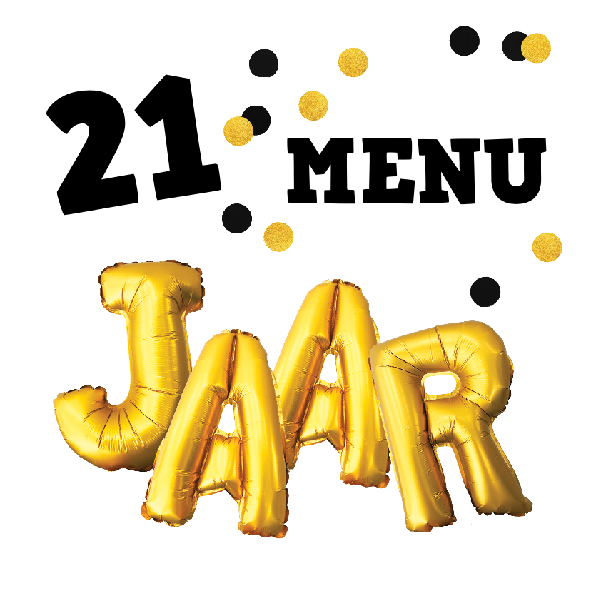 21-diner menukaarten
