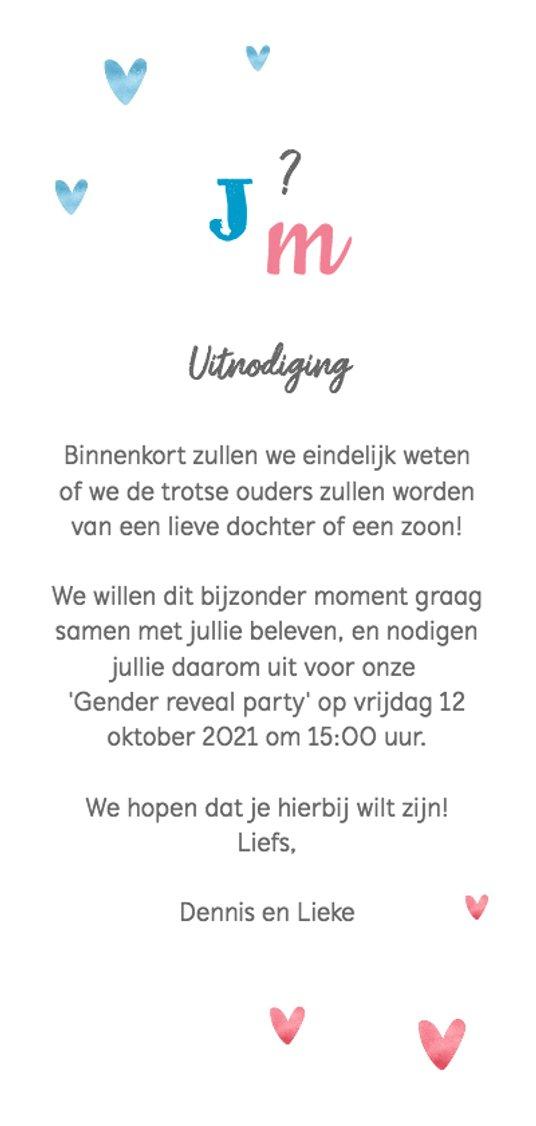 Onwijs De leukste uitnodigingen voor een Gender Reveal Party DS-52