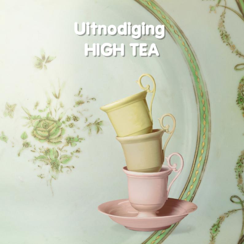 Verbazingwekkend High tea organiseren thuis met tips en unieke uitnodiging SS-71