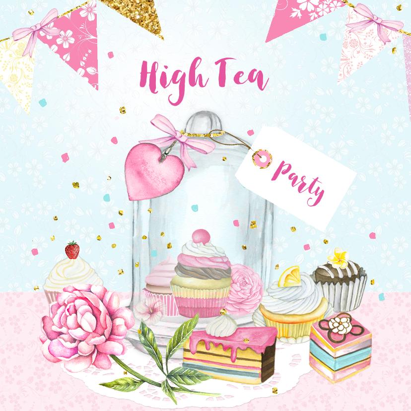 Hedendaags De zoetste uitnodigingen voor een high-tea! - Uitnodigingen.nl DR-25