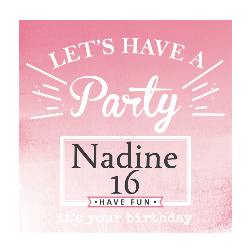 sweet 16 uitnodiging party