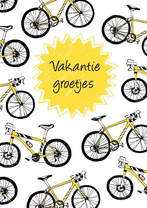 vakantie sportief fietsen vakantiekaart