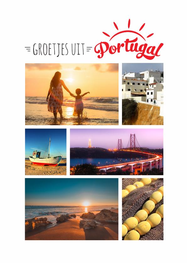 vakantie vakantiekaart portugal