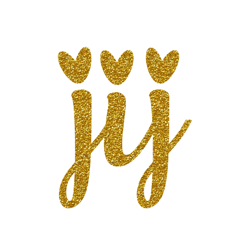 Valentijn valentijnskaart jij goud en glitter