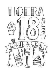 Kleurplaten Verjaardag Opa 60 Jaar Verjaardag 18 Handlettering Ts Uitnodigingen Nl