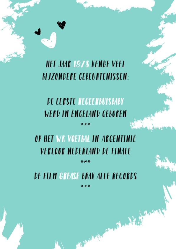 Goede De leukste verjaardagskaarten voor 40 jaar! - Uitnodigingen.nl WX-72