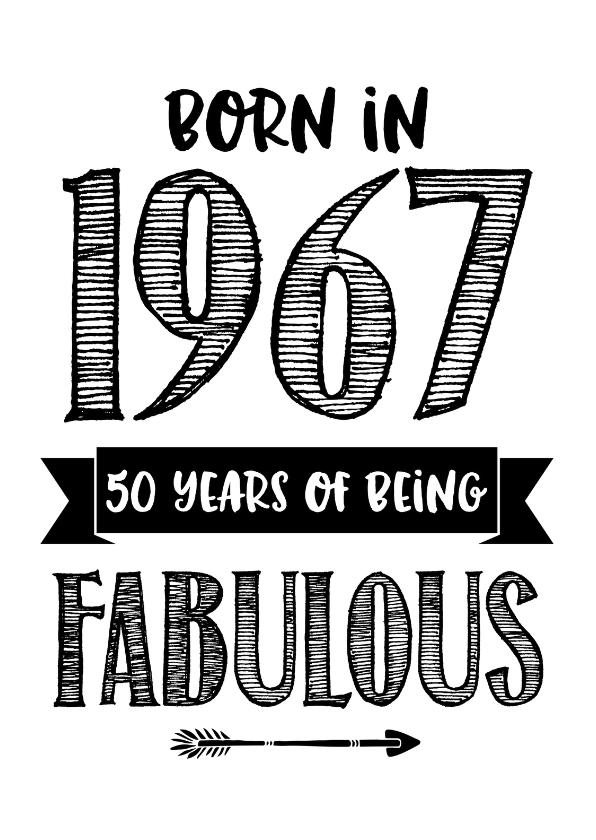 verjaardagskaart vijftig born in 1967