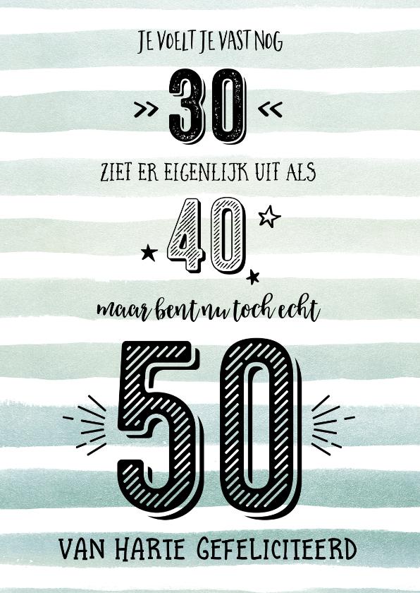 Iets Nieuws 50 jaar? Dat moet gevierd worden! - Uitnodigingen.nl #ZU32