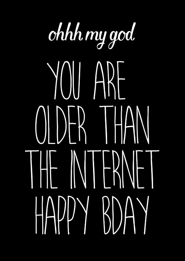 verjaardagskaart internet quote