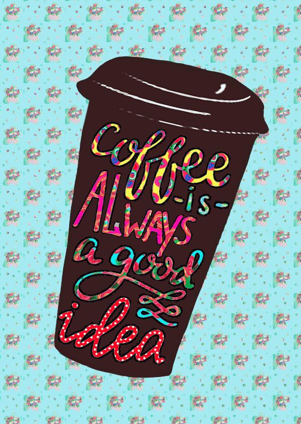 vriendschap kaart koffie pa