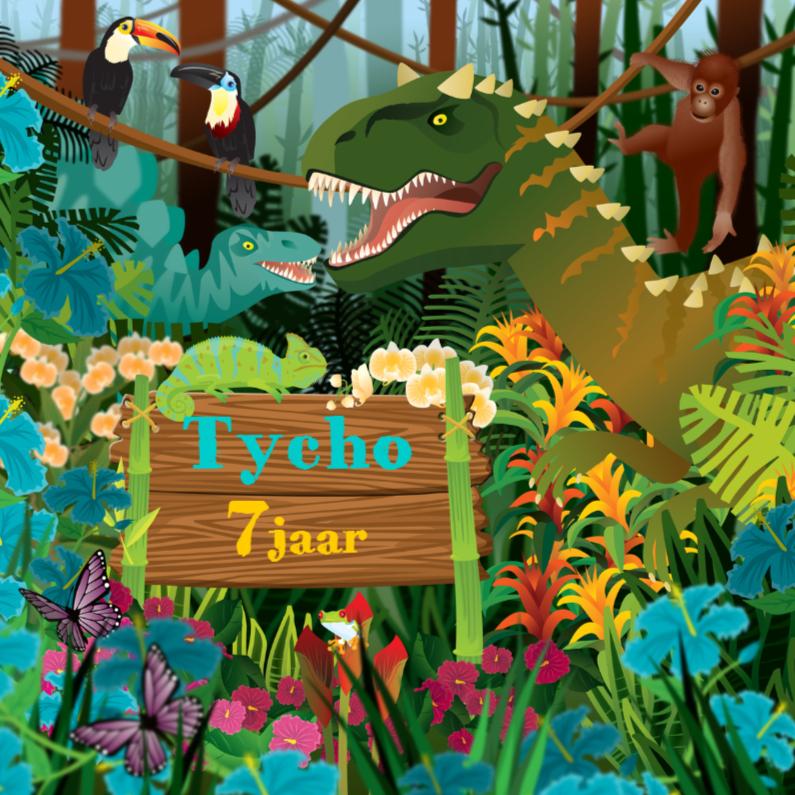 verjaardag yvon dinosaurus jongenskaart
